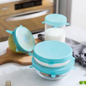 摩登主妇硅胶保鲜盖微波炉加热盖碗盖食品级盖子杯盖圆形饭盒配件