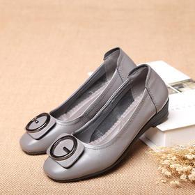 OL8868新款时尚气质真皮软底防滑休闲舒适皮鞋TZF