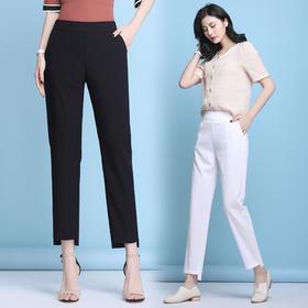 XFFS9802新款时尚宽松舒适棉麻休闲九分哈伦裤TZF