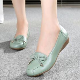 RJXY-XY1695新款时尚休闲真皮浅口软底防滑单鞋TZF