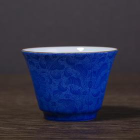 颜色扒花小杯套组单杯 马蹄杯