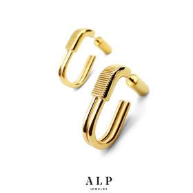 ALP JEWELRY 封存系列  锁头U型耳环