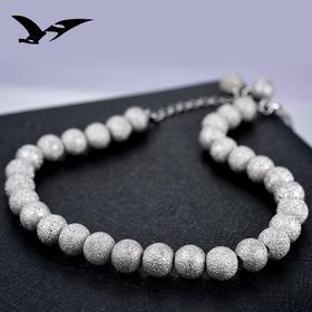 YJ00151新款时尚气质s925纯银圆珠磨砂手链TZF