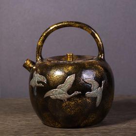 雅市·铜包瓷仙鹤壶
