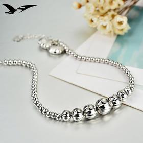 YJ-YJ00153新款简约银珠小长命锁手链TZF