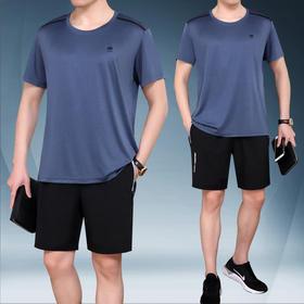 SP-9078SZSE新款男士薄款短袖短裤休闲运动两件套TZF