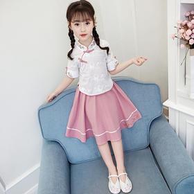 JSZC新款时尚洋气刺绣汉服上衣公主裙两件套TZF