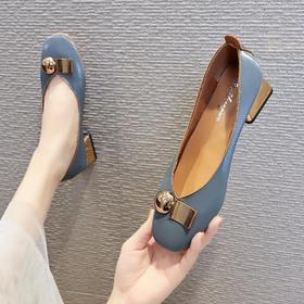 LN6200新款时尚气质方头浅口低跟单鞋TZF