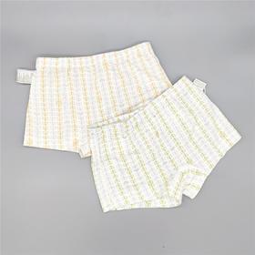 三木比迪SM8X10703 平角短裤(2件装)浅绿/浅黄