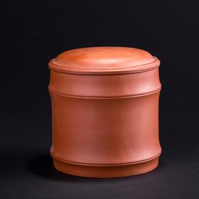 阳士琦·紫砂茶叶罐(竹节)