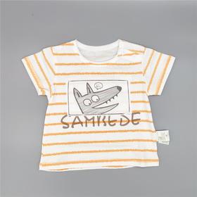 三木比迪SM9X32990 T恤 卡其/橙色