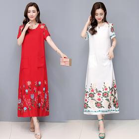 DSMY-YXD618新款时尚棉绸连衣裙TZF