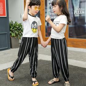 DBLFZ-HSD12新款男女童薄款绵绸印花休闲灯笼裤TZF