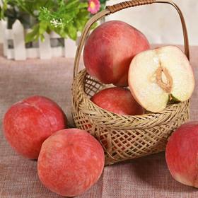【陕西水蜜桃 5斤】| 新鲜现摘,口感爽脆,香甜多汁,桃香四溢