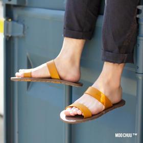 【泰国原装进口 防水防滑不臭脚 】MOO CHUU吖木拖鞋 简约素雅 磨砂质感 轮胎纹理设计