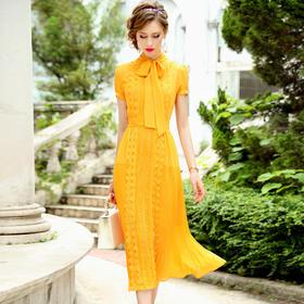 FMY-30738雪纺高腰法式连衣裙TZF