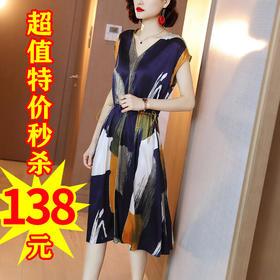 XFFS6292新款气质修身过膝缎面裙子TZF