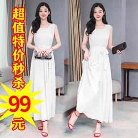 XFFS9013新款超仙旅游海边度假雪纺连衣裙TZF
