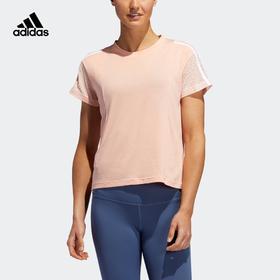 【特价】Adidas阿迪达斯 3S Mesh Slv T 女款训练运动圆领短袖T恤