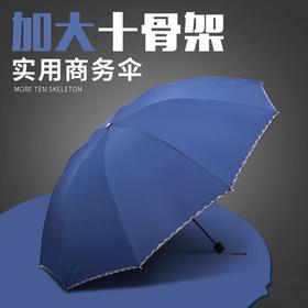 HXSY8048新款三折叠手动黑胶防晒遮晴雨伞TZF
