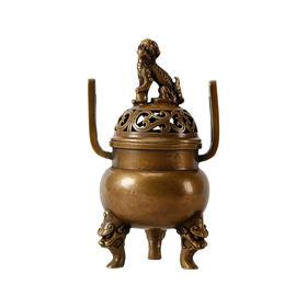 铜香炉佛系禅意摆件