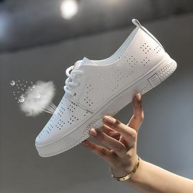 LN-F711新款时尚气质镂空透气平底休闲鞋TZF