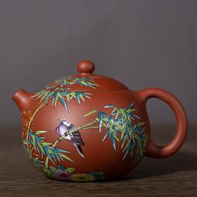紫砂壶竹雀(西施)