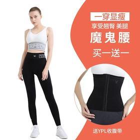 YPL健身裤小AI裤小狗收腹裤女中腰塑身提臀束腰健身瑜伽裤