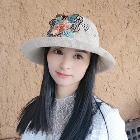 QYSM-MZ01016新款民族风优雅气质绣花针织帽TZF
