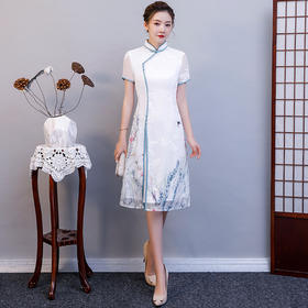 MQ-QP1390夏季中国风少女奥戴旗袍TZF