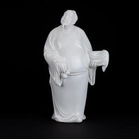 白瓷·抱琴观鹤
