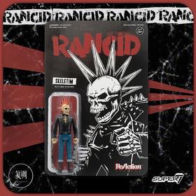 Super7 Rancid ReAction Figure Skeletim 复古 挂卡 金属乐 潮流玩具 摆件