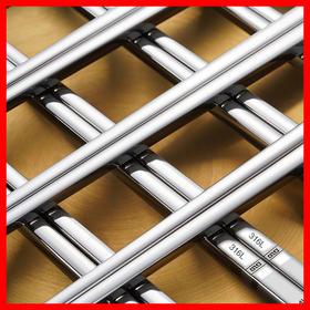 【不发霉,316L不锈钢筷子】防滑防霉,耐用隔热,一体成型敲不坏不进水,让家人吃的更放心!