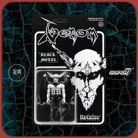 Super7 Venom ReAction Figure Black Metal 复古 挂卡 金属乐 潮流玩具 摆件
