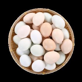 【河南】农家彩虹双色新鲜土鸡蛋 蛋白有嚼劲感 蛋黄红润粉沙