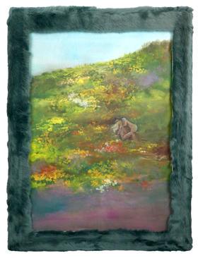 油画 《想和你一起迷失,在繁花中躲藏。》 Athena 50x70x0.9cm