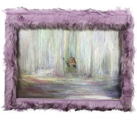 油画 《为何你眼中常含泪水?君语我言,我瞩君以情。》 Athena 50x70x0.10cm