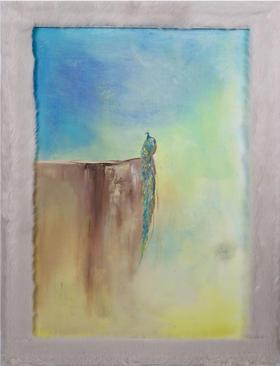 油画 《从屏风中逃脱,远离喧嚣。》 Athena 50x70x0.7cm