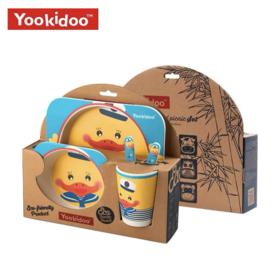美国Yookidoo 儿童竹纤维碗碟套餐  国际大牌 材质安心