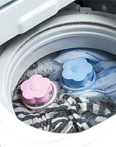 2个装洗衣机过滤网洗衣球漂浮清洁除毛器去毛球吸毛球过滤网