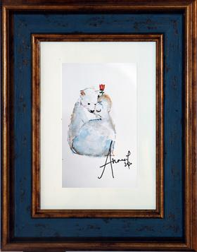 水彩 北极熊  Athena 15×20cm(带框)