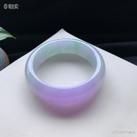 56.6mm糯种紫罗兰翡翠手镯