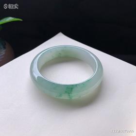 55.3mm糯种飘花翡翠手镯