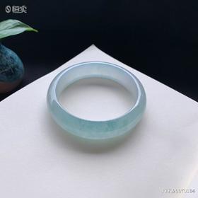 58.1mm冰糯种绿底翡翠手镯