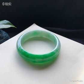 58mm糯种翠绿翡翠手镯
