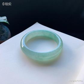 57.5mm冰糯种绿底翡翠手镯
