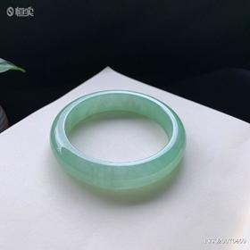 57.4mm冰糯种绿底翡翠手镯