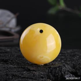 鸡油黄蜜蜡鱼眼扣