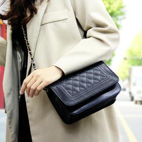女包新款时尚休闲菱格链条单肩斜跨包背包