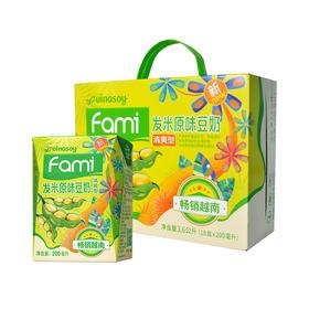 【江浙沪包邮】Fami发米(泰国进口)豆奶200ml*18盒/箱 49.9元 原味 清爽型